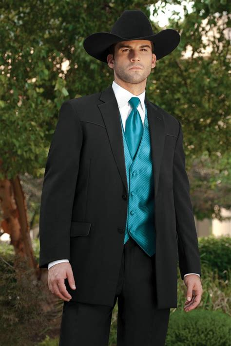 Wedding Attire Rental by Lord West Lariat Western Tuxedo Traditional Fit Tuxedo