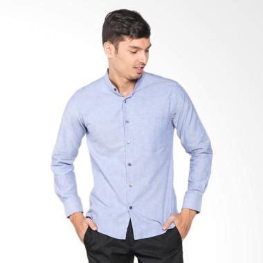 Kemeja Panjang Shirt Kasual Pria Biru Cbr Six Dkc 217 Original 1 jual vm krah shanghai oxford slim fit panjang kemeja pria biru harga kualitas