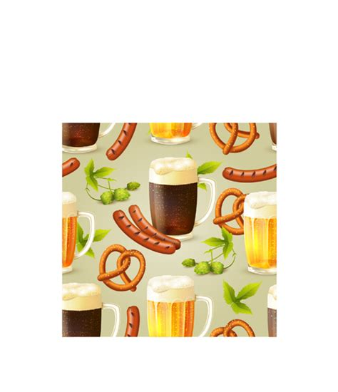 Oktoberfest elements pattern seamless vector ? Over