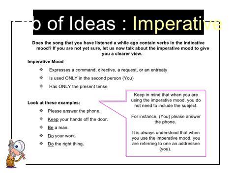 Verb Moods Worksheet by Moods Of The Verb