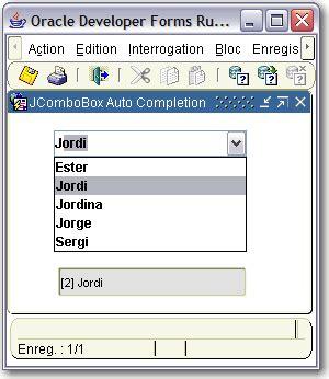 java swing jcombobox forms an quot auto completion quot combo box francois degrelle