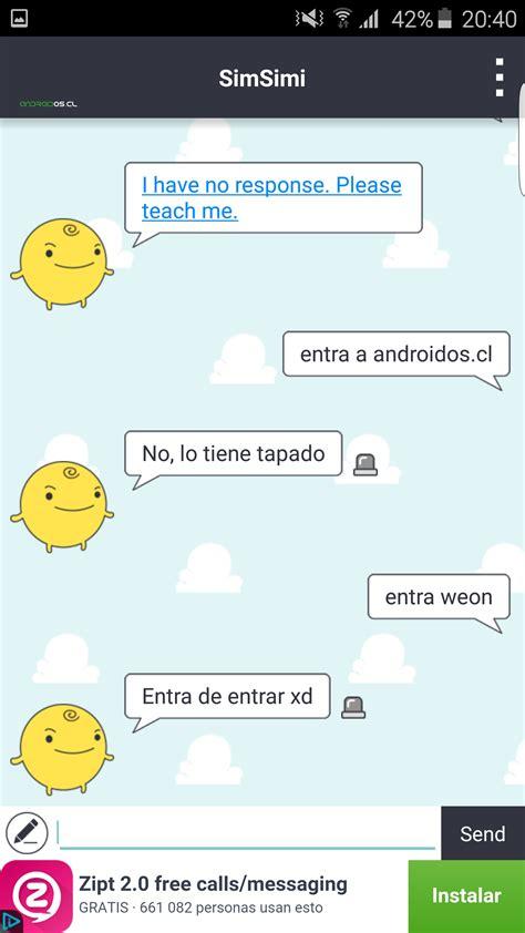 simsimi apk como hablar con simsimi android os