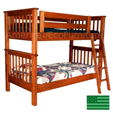 American Made Bunk Beds Amish Makenzie Bunk Bed On Solid Wood Usa Made Children S Furniture American Eco