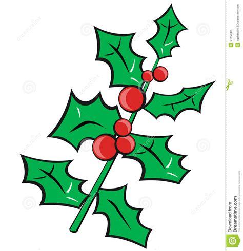 clipart natalizi agrifoglio di natale illustrazione vettoriale