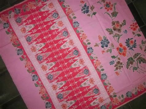 Kain Batik Liem Ping Wie Asli Pekalongan Motif Bunga Hitam Putih 3 kain batik encim