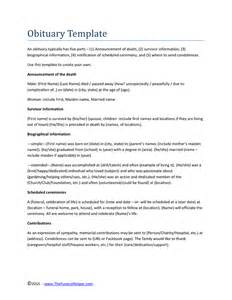 obituary template pdf doc 580630 announcement templates sle