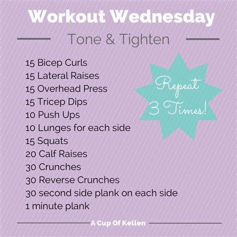 workout wednesday the beginner s exercise plan exercises for women female fitness by workout wednesday a cup of kellen