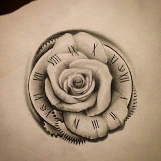hand tattoo rose clock 25 best ideas about clock tattoos on pinterest time
