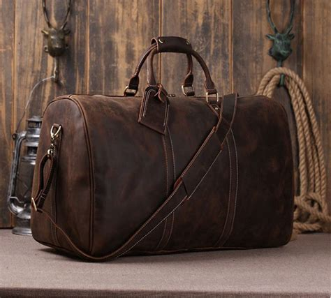 Tas Travel Traveling Travelling Traveller Traveler Bag boston leather travel bags luggage travel bag large genuine leather duffle bag