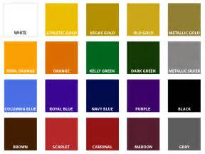 custom color standard athletic colors