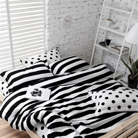 black white striped bedding 30 printed bedding sets to refresh your bedroom digsdigs