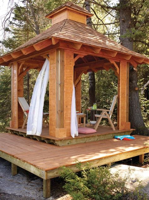 gazebo plans  diy ideas  enjoy outdoor living