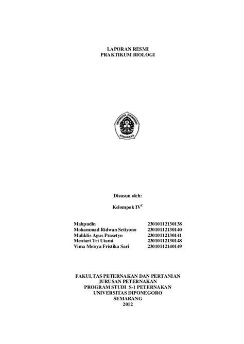 contoh laporan zoologi invertebrata laporan praktikum anatomi hewan