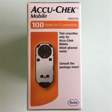 accu chek mobile cassette 100 accu chek mobile blood glucose system health