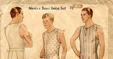 sewing pattern union suit unsung sewing patterns mccall 3720 men s and boys union suit