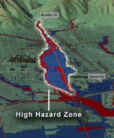 boulder colorado high hazard flood area