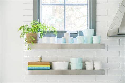 Stainless Steel Floating Shelves Design Ideas