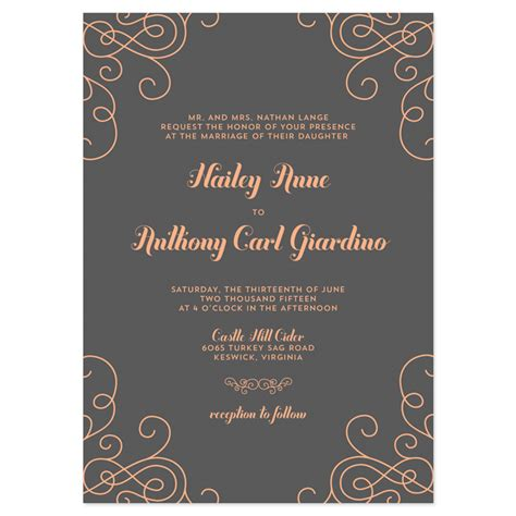 modern wedding invitations templates contemporary wedding invitation wording