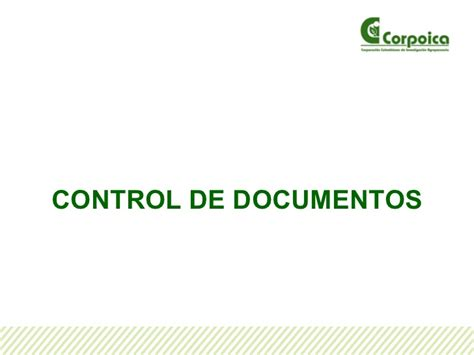 Control De Documentos | gestion de control de documentos