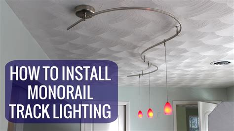 replace chandelier with track lighting how to install a monorail track lighting system youtube