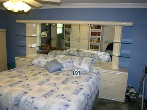 glass headboard king bedroom suite 6 drawer dresser w mirror headboard