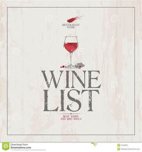 wine list template free wine list menu template stock vector illustration of