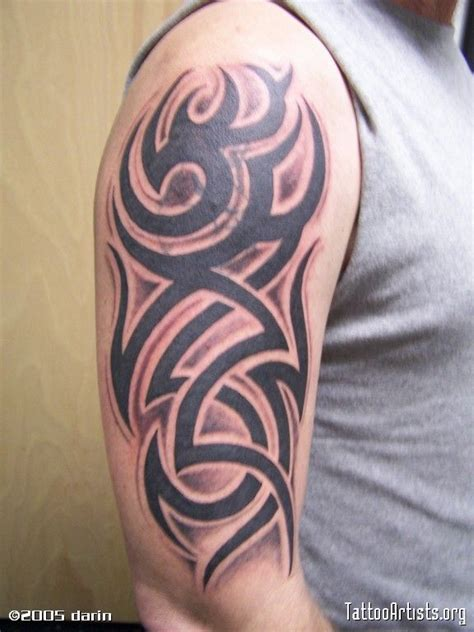 tribal tattoos with color shading another shaded tribal tattoos