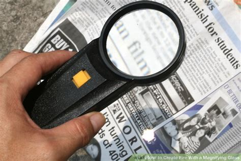 How To Make A Magnifying Glass Out Of Paper - how to create with a magnifying glass 12 steps