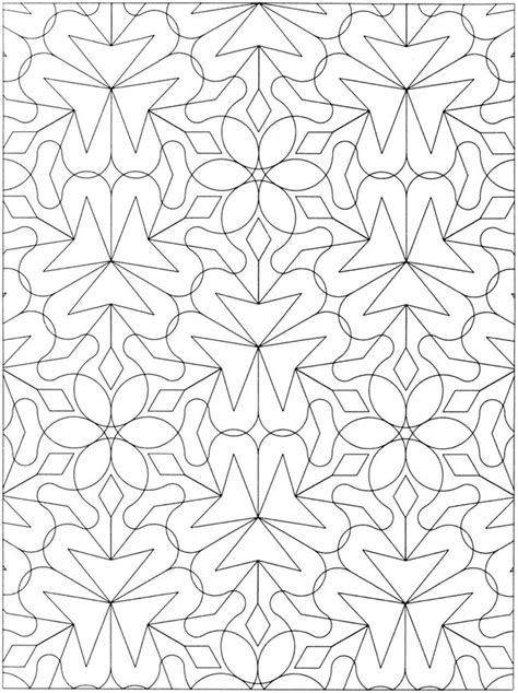 geometric coloring books creative geometric allover patterns coloring book
