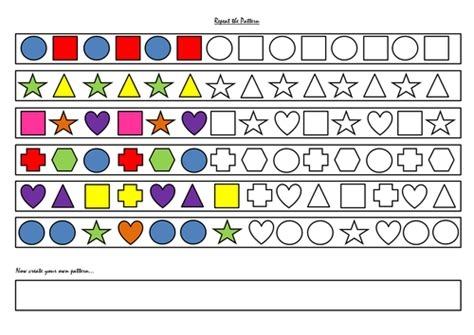continuing patterns ks1 shape exploring and continuing colour shape and number patterns