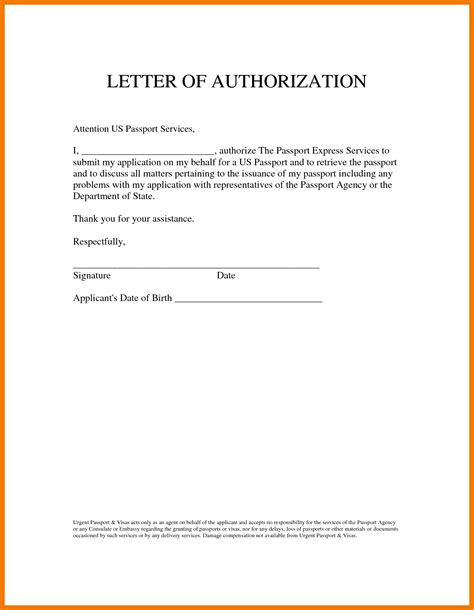 authorization letter format for 8 authorization letter sles on behalf mailroom clerk