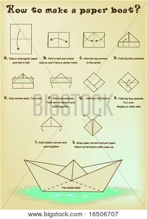 How Do I Make A Paper Boat - how to make a paper boat stock vector stock photos