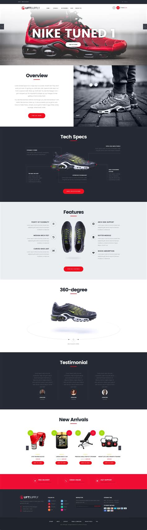 shopify themes supply lift supply single product shopify theme by juno themes