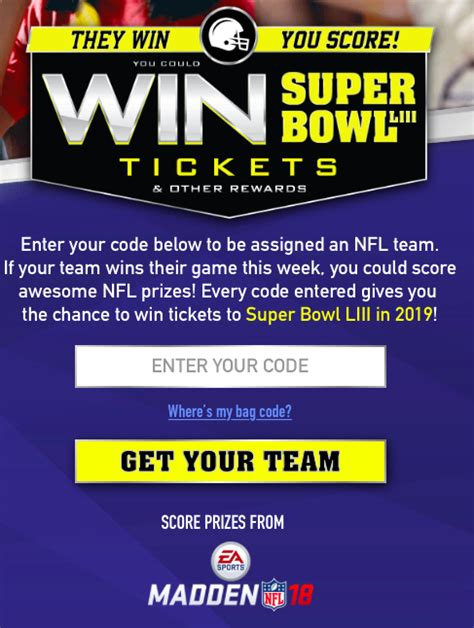 10 south 5th 7th floor minneapolis mn 55402 enter code theywinyouscore bowl sweepstakes