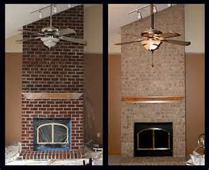 change brick fireplace wisconsin brick stain project modern south west by