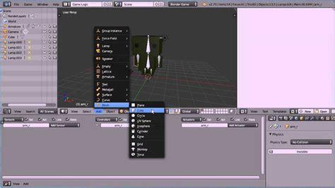 tutorial blender physics blender tutorial using physics type character to make a