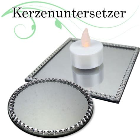 kerzenuntersetzer silber 2er set kerzenhalter glasuntersetzer kerzenuntersetzer
