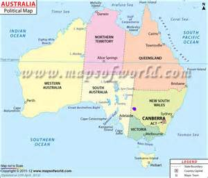 show me the map of australia my