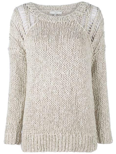 Sweater Magma Iro Magma Sweater In Gray Grey Lyst