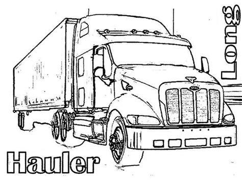semi truck coloring pages truck coloring pages bestofcoloring