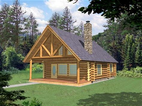 Plans For Cottages by Small Log Home With Loft Small Log Cabin Homes Plans