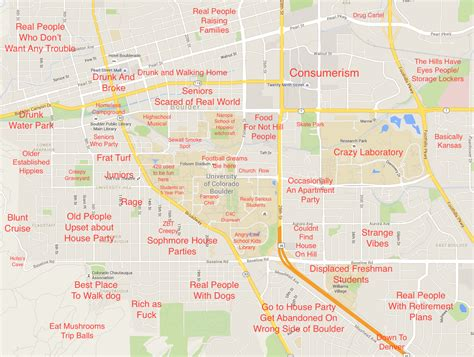 cu boulder map these judgmental maps of boulder denver and ft collins are so rude but so accurate rooster