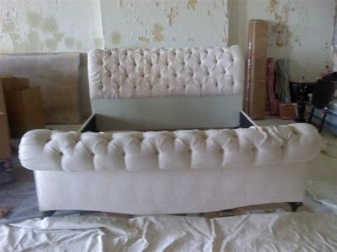 tufted sleigh bed king tufted king sleigh bed for the home pinterest