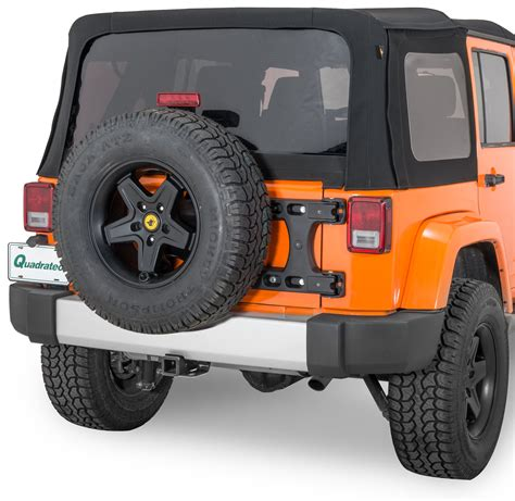 jeep tire carrier teraflex 4838100 hd hinged carrier for 07 17 jeep