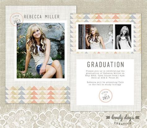 templates for college graduation announcements senior graduation announcement template high school