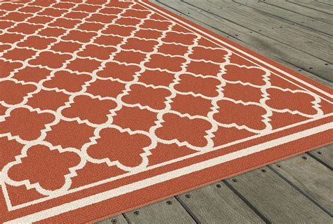 Tile Area Rug Garden City Terra Transitional Casual Tile Outdoor Geometric Gct1011 Area Rug