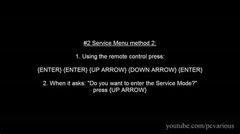 how to a service how to access service menu factory mode in sony tv