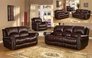 Leather Living Room Furniture Sets Sale New Brown Leather 3pc Reclining Living Room Set With Nailhead Fronts 1399 00 New
