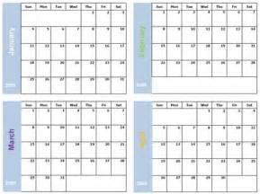 4 month printable calendar printable online calendar