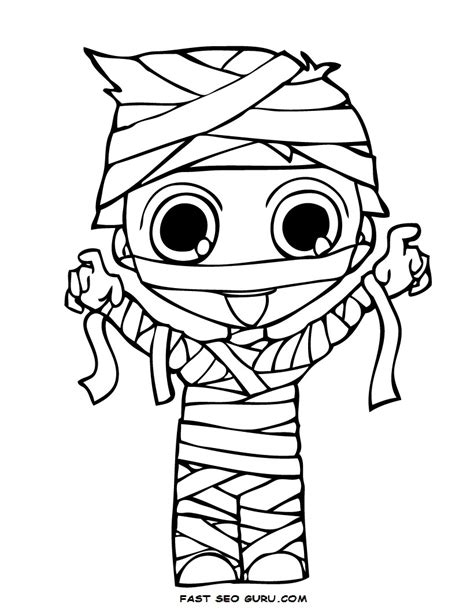 mummy coloring pages halloween cute mummy pictures cliparts co digital sts